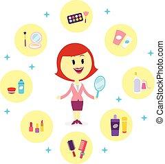 Variedad de productos cosméticos