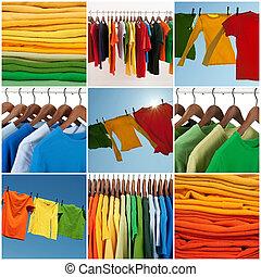 Variedad de ropa interior multicolor