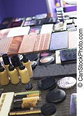 variedad, maquillaje, tabla