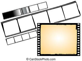Varios cuadros de películas, vector