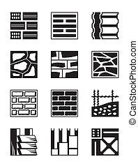 Varios materiales de construcción