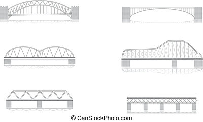 Varios puentes de vector a gran escala