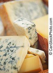 Varios tipos de composición de queso