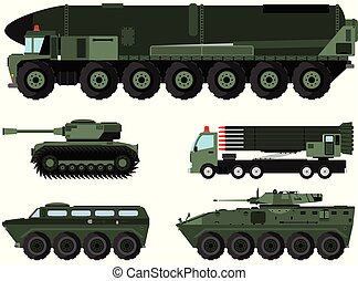 Varios vehículos de combate