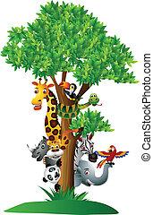 Varios y divertidos animales de safari