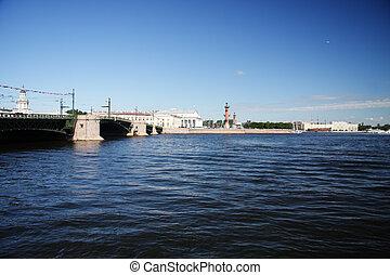 vasilievsky, isla, puente