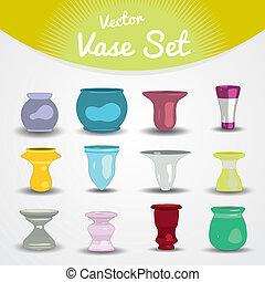 Vasos coloridos listos