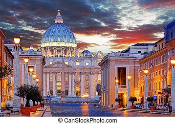 vaticano, st. peter's, roma, basílica