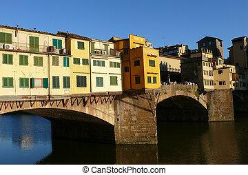 vecchio, ponte, italia, florencia