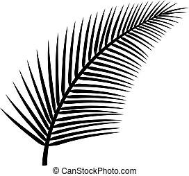 vector, árbol, palma, ilustración
