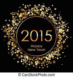 Vector 2015 antecedentes con destellos de oro