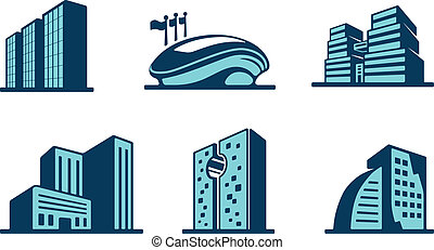 Vector 3D iconos de construcción