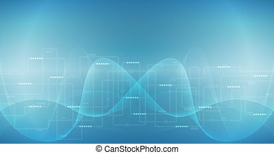 Vector Abstract Technoloty Conexión de Internet concepto de comunicación de fondo.