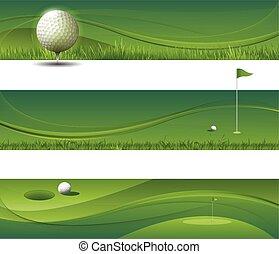 vector abstracto agitando fondo de golf