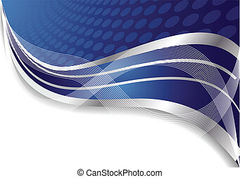 Vector abstracto de fondo azul con círculo
