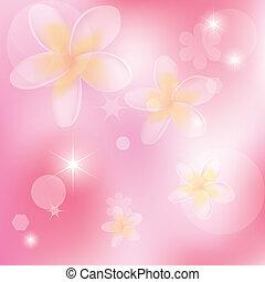 Vector abstracto fondo rosado con flores