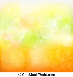 Vector abstracto naranja y fondo amarillo