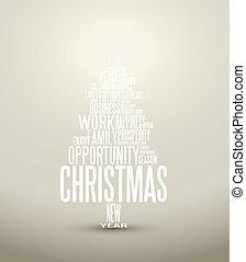 Vector Abstracto tarjeta de Navidad con palabras de temporada