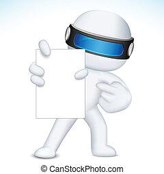 vector, actuación, tarjeta, blanco, 3d, empresa / negocio, nan