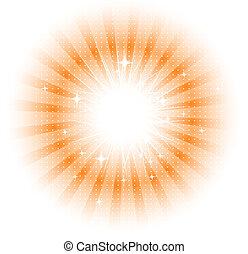 Vector aisló rayos de sol