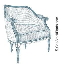 Vector antiguo de sillón