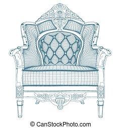 Vector antiguo del sillón 20.eps