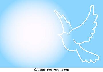 Vector azul con paloma