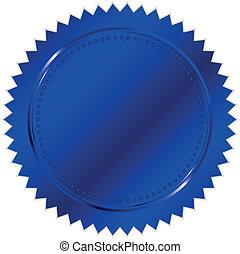 vector, azul, sello, ilustración