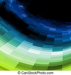 Vector azul y verde, antecedentes mosaicos.