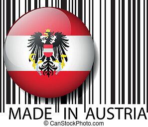 vector, barcode., hecho, austria, ilustración