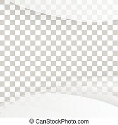 Vector blanco de bandera ondulada.