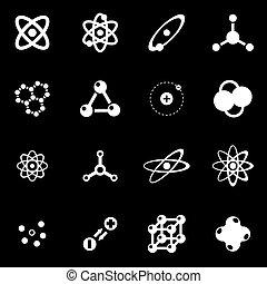 Vector blanco icono de átomo