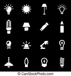 Vector blanco icono set