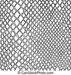 Vector blanco y negro patrón de serpiente