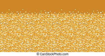 Vector brillo dorado textura brillante de textura horizontal fondo de la frontera
