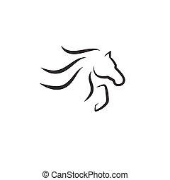 vector, caballo