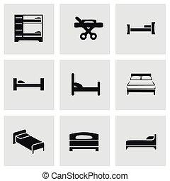 Vector cama icono set