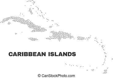 Vector caribbean islas mapa de puntos
