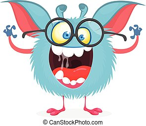 vector, character., monstruo, divertido, caricatura, ilustración común
