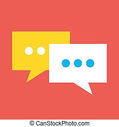 Vector chat icono