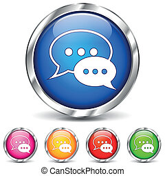 Vector chat iconos