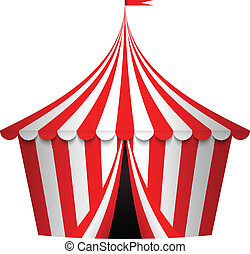 vector, circo, ilustración, tienda