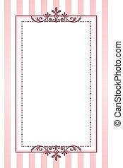 Vector clásico marco de rayas rosas