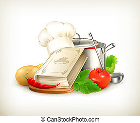 vector, cocina, ilustración