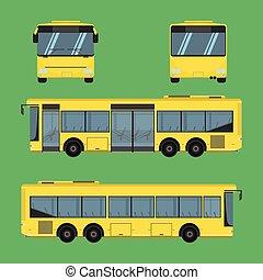 vector, colchón, conductor, carril, omnibus, cabezal, banco, sillón, tarifa, autobus, almohadilla, taburete, silla, hassock, pasajero, autobús, asiento, ilustración, entrenador