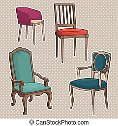 Vector conjunto de sillones