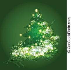 Vector de adornos de árbol de Navidad
