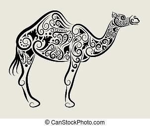 Vector de adornos de camello