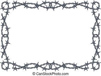 Vector de alambre de púas