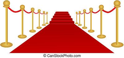 Vector de alfombra roja